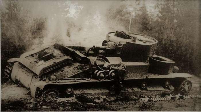 Огнем и железом: дерзкий рейд танка Т-28 по захваченному немцами Минску-6 фото-