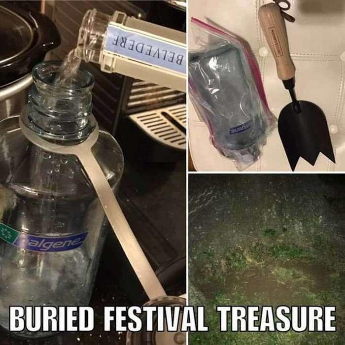 Парень закопал тайник с водкой перед фестивалем, чтобы выпить после его начала-4 фото-