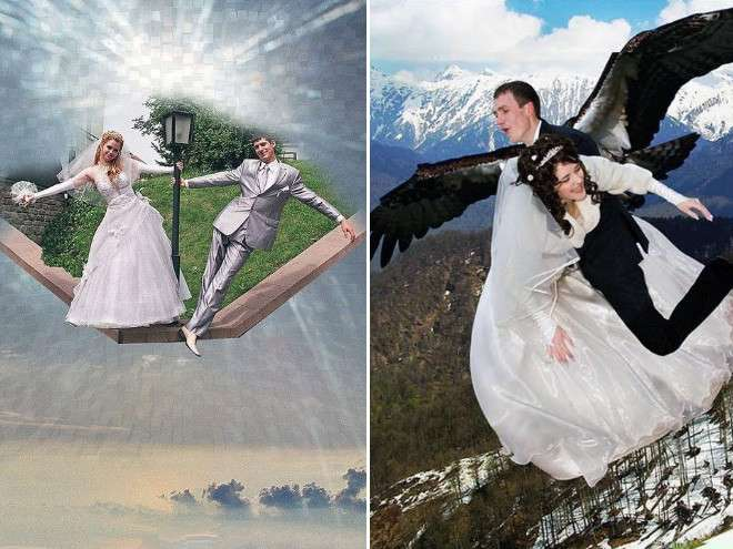 Свадебные фотографии после фотошопа-21 фото-