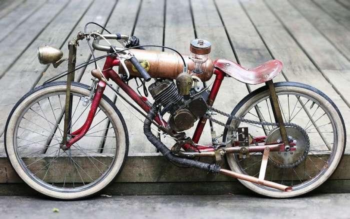 Минибайки из старых велосипедов Янника Рида-7 фото-