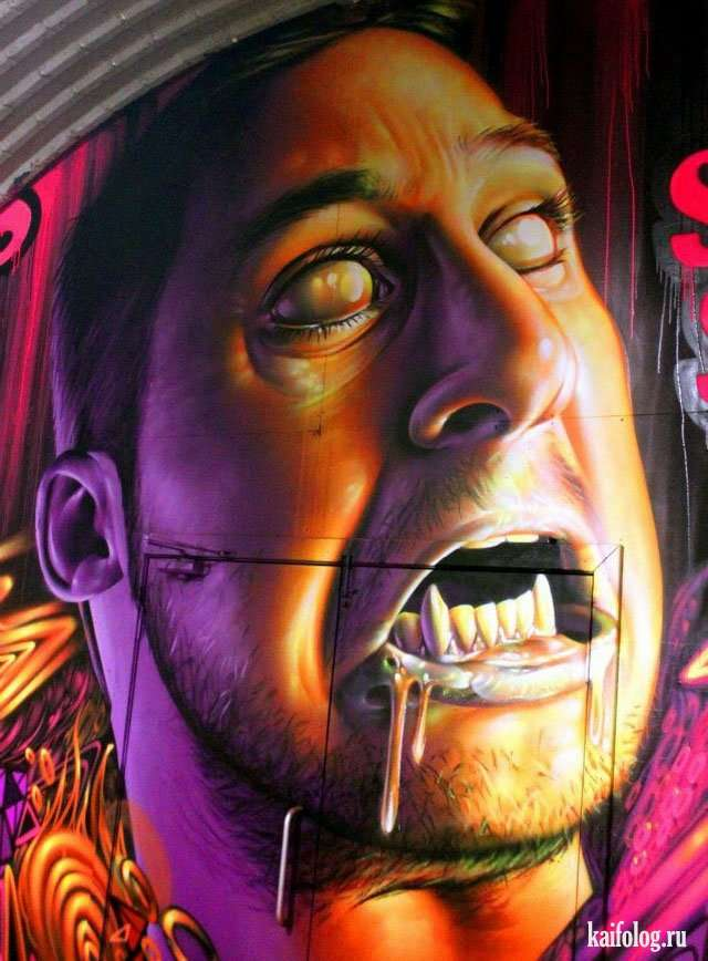 Прикольные 3D граффити Smug On (40 штук)