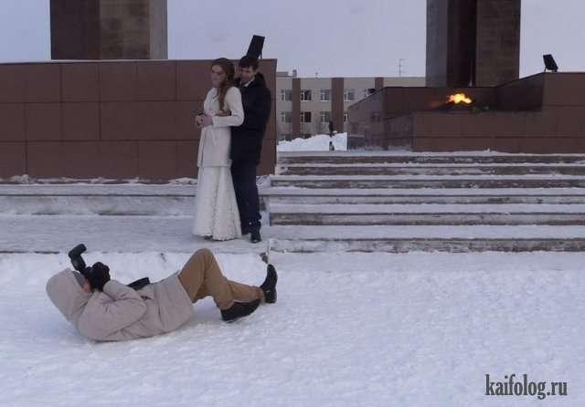 Прикольные и неудачные свадебные фото (45 штук)