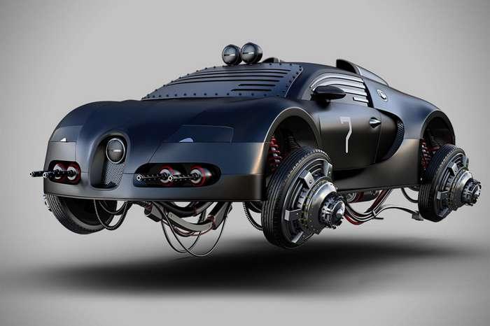Жомар Машаду: потрясающий автомобильный иллюстратор-15 фото-
