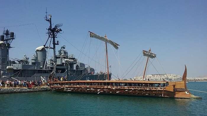 Боевые и торговые корабли Древнего Рима-17 фото + 1 видео-