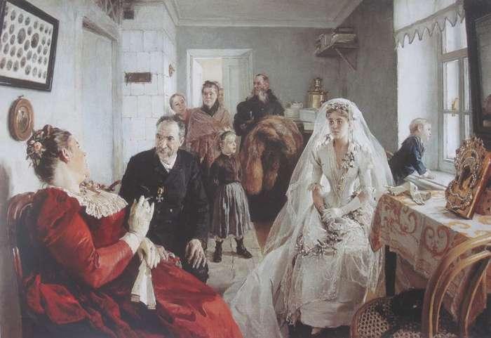 Картины про несчастных невест в русском искусстве-20 фото-
