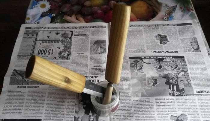 Пропитка деревянной рукояти ножа-15 фото-