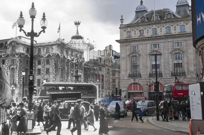 Лондон тогда и сейчас. Фотографии сделанные более 100 лет назад в современных снимках-11 фото-