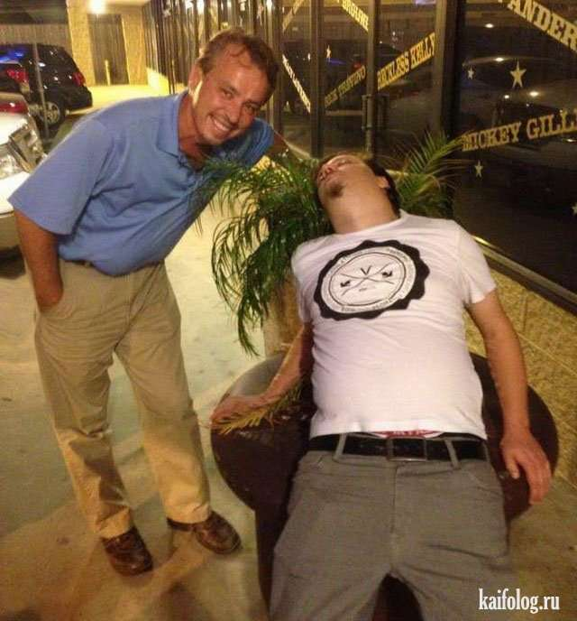 В отрубе или как спят пьяные (55 фото)