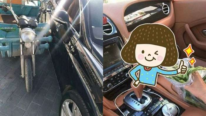Старик поцарапал Bentley на своем мопеде и сделал хозяину подарок-4 фото-