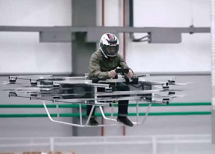 -Калашников- разработал летающий мотоцикл: видео испытаний-2 фото + 1 видео-