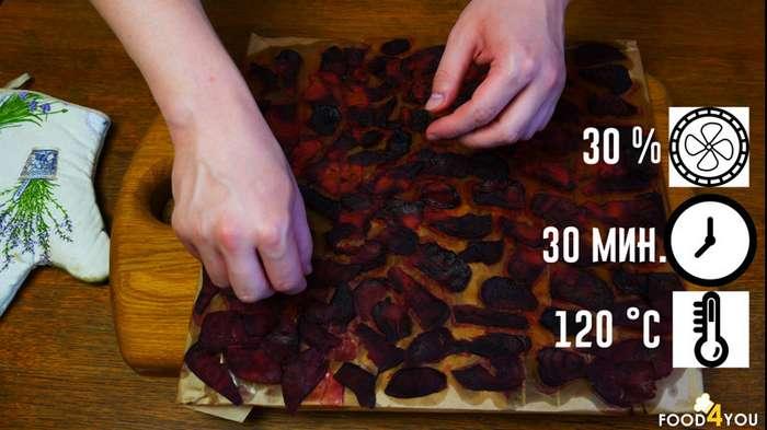 Чипсы из свеклы с бальзамическим соусом-12 фото-