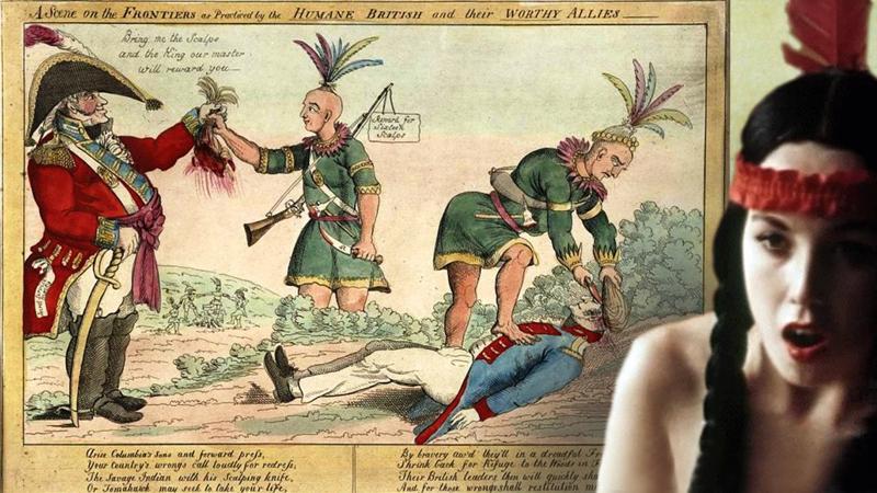 Как индейцев учили скальпы снимать-4 фото-