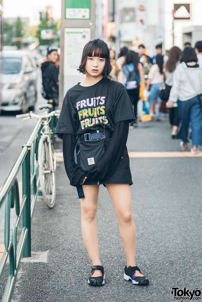 Модные персонажи на улицах Токио-36 фото-