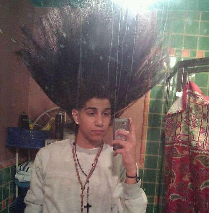 Самые необычные причёски со всего света-17 фото-