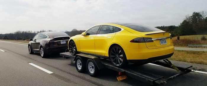 Хакнутая и очень быстрая Tesla продается в США-3 фото + 1 видео-