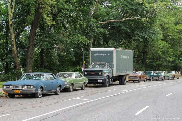 Старые автомобили на улицах Нью-Йорка-70 фото-