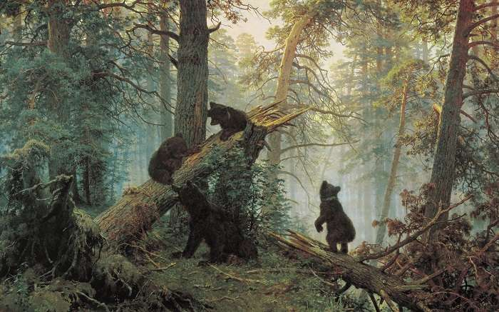 -Утро в сосновом лесу-: путь от картины до обертки для конфет