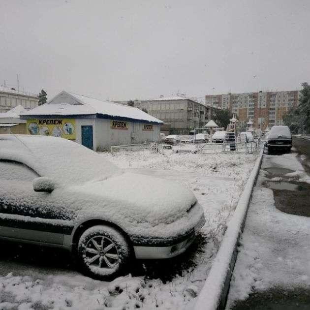 Летний снегопад в Якутии