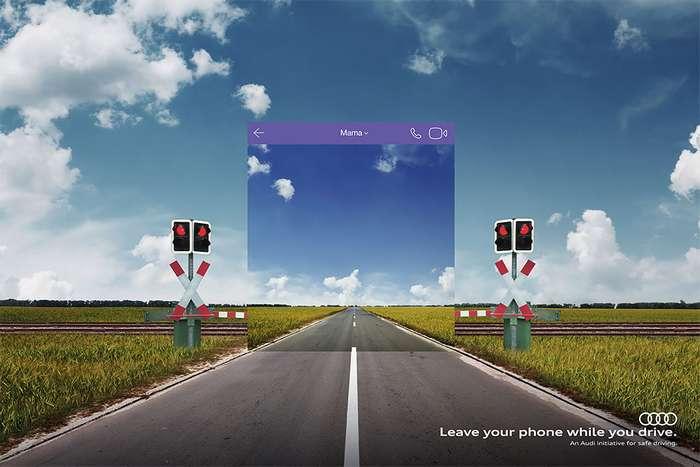 Audi предупреждает: опасно сидеть в соцсетях за рулем