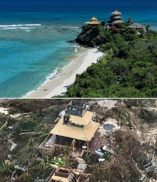 Ураган разрушил дом миллиардера Ричарда Брэнсона