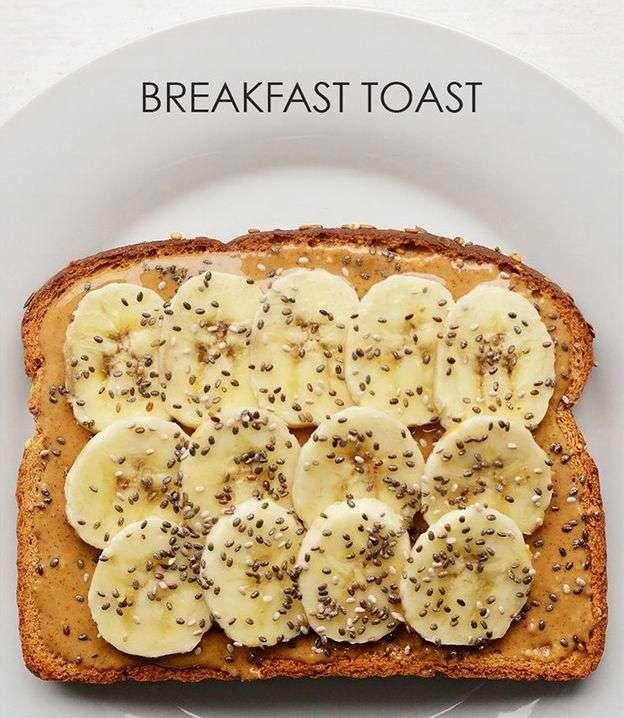 Варианты тостов на завтрак