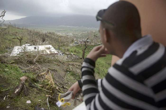 Последствия урагана -Мария- на Карибских островах
