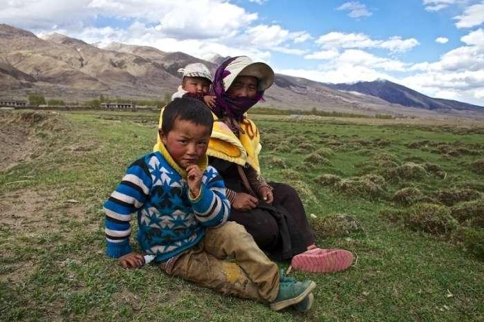Жизнь людей в предгорье Тибета