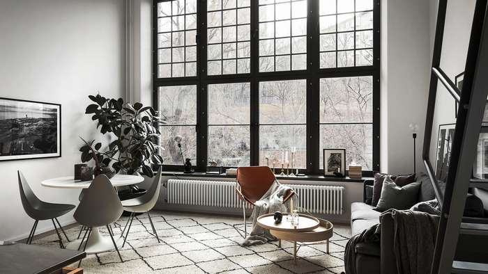 Интерьер двухуровневой квартиры площадью 40 квадратных метров