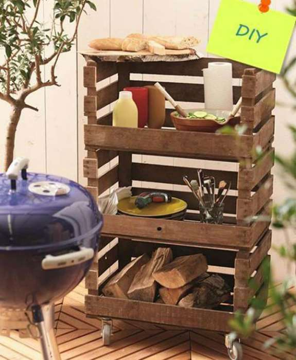 Поделки из деревянных ящиков от фруктов
