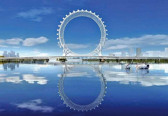 Они снова бьют рекорды: китайцы построили первое в мире колесо обозрения без оси