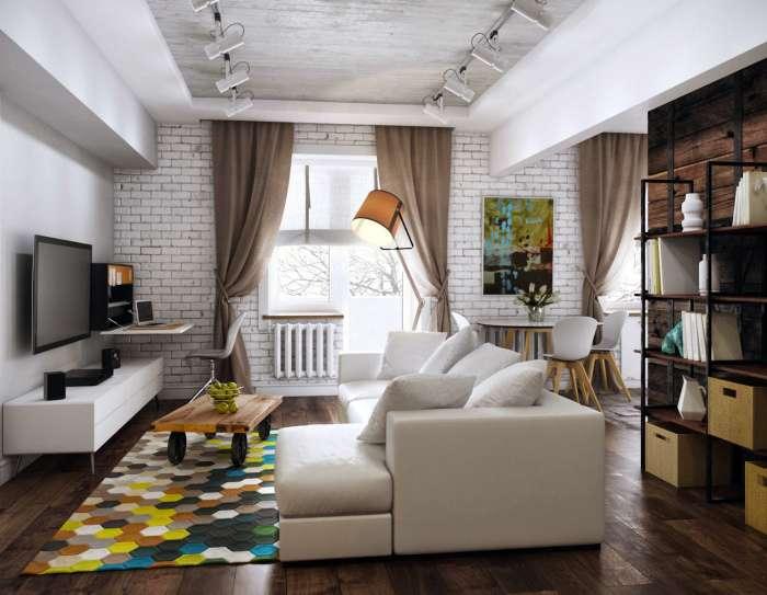 17 гениальных идей стильного и функционального обустройства небольшой однокомнатной квартиры