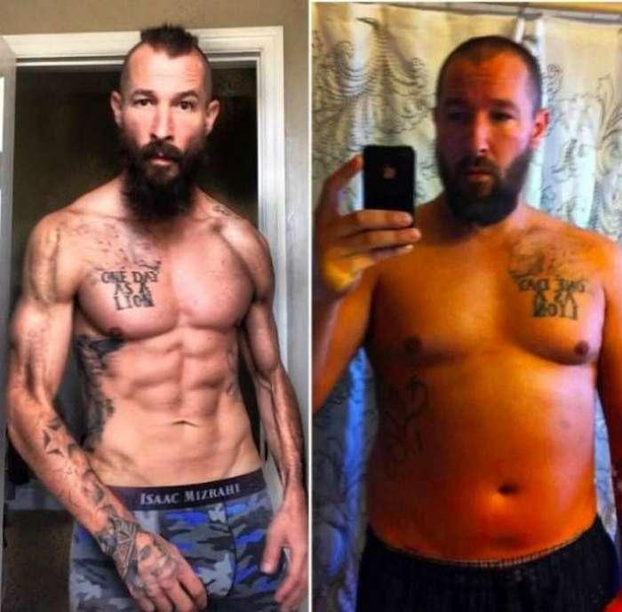 Мужчина сбросил 30 кг и занялся боями без правил, чтобы пережить развод (7 фото)