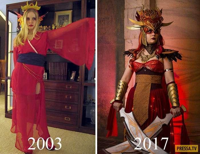 Вот как может совершенствоваться косплей спустя года (5 фото)