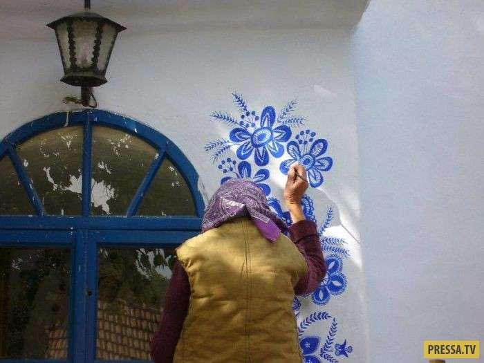 Бабушка, которой 90 лет, показала, что такое искусство (8 фото)