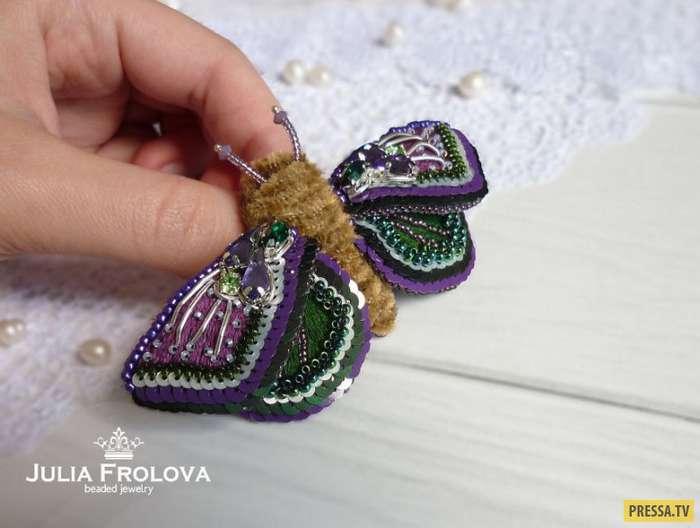 Уникальные насекомые из бисера от русской художницы Юлии Фроловой! (19 фото)