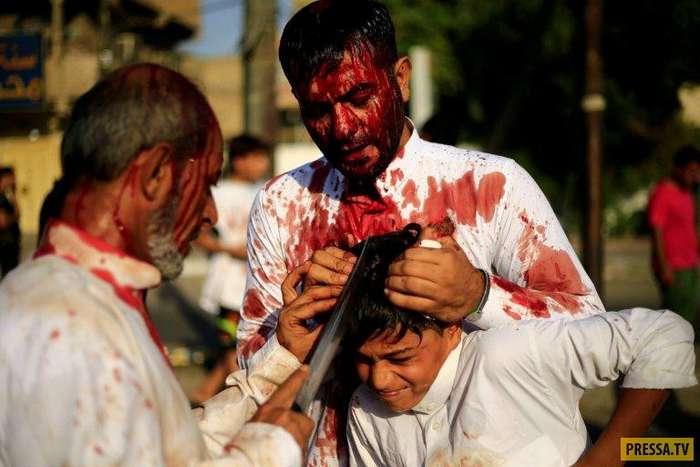 День Ашура в Ираке. Впечатлительным не смотреть! (14 фото)