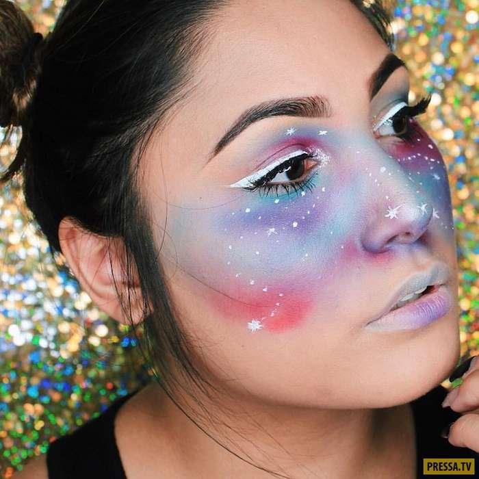 Галактический макияж свел с ума множество модниц! (27 фото)