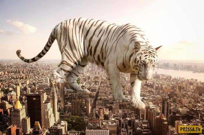 Художник создал свой мир, где преобладают гигантские животные (12 фото)