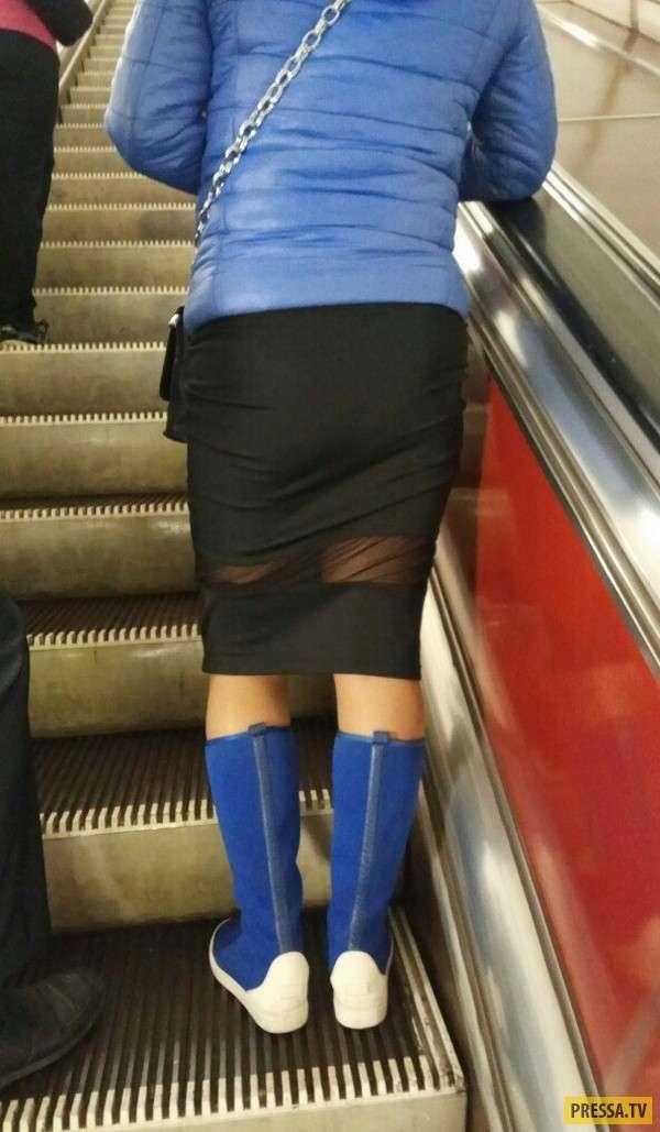 Странные и забавные люди из метро (34 фото)
