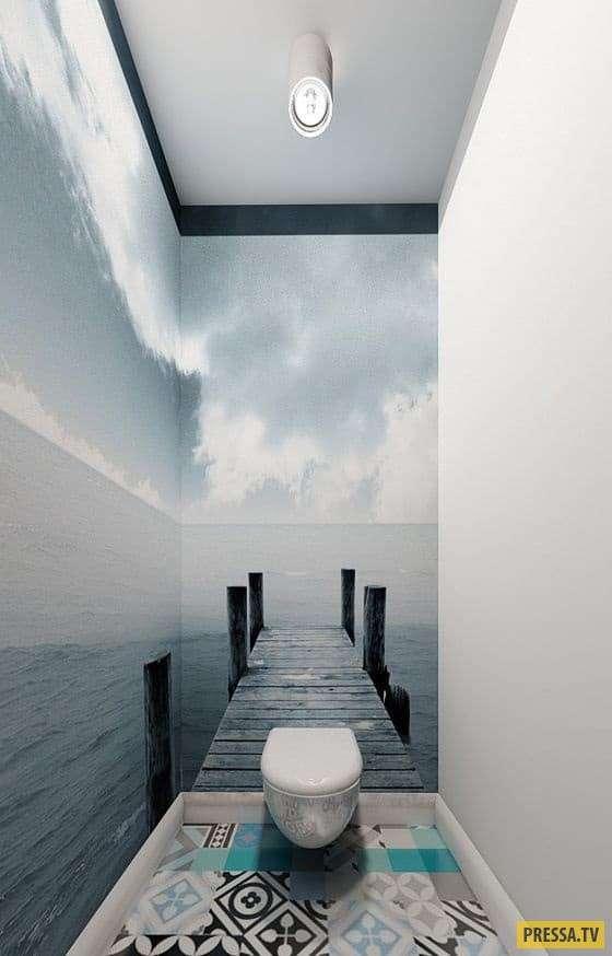 Туалетный креатив для творческих людей: а вы бы отважились? (15 фото)