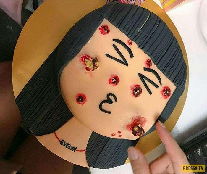 Какая мерзость! Этот прыщавый торт – самый гадкий десерт, который вы видели! (5 фото)