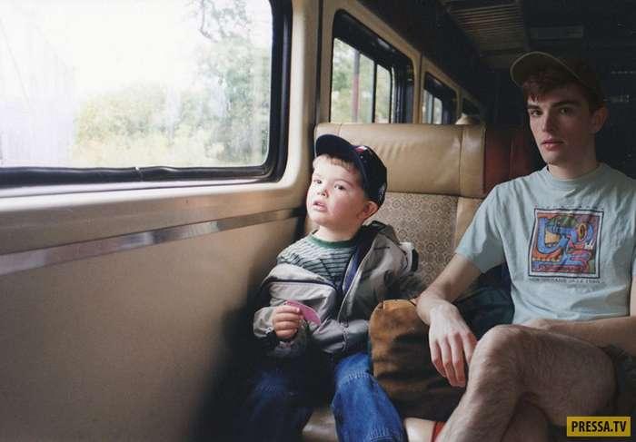 Парень соединил свои фотографии с детскими и результат просто невероятен! (11 фото)