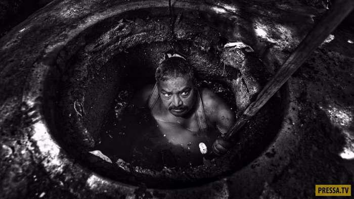 Вам не нравится ваша работа? Посмотрите, в каких условиях работают индийские коммунальщики (12 фото)