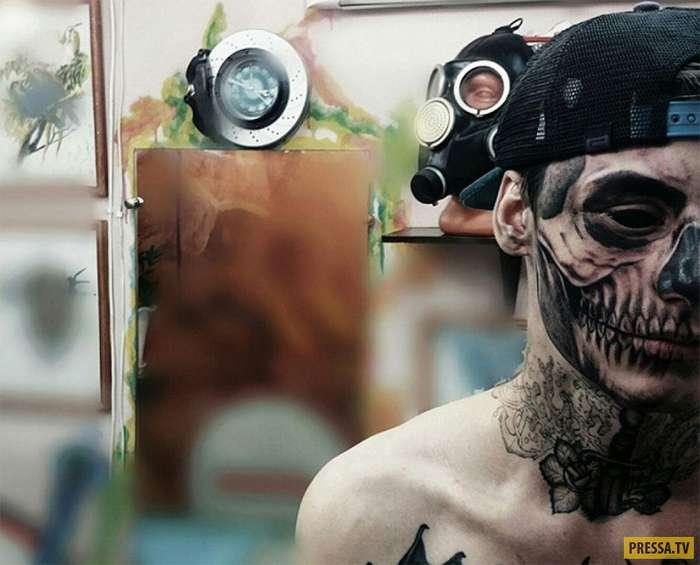 Пугающее зомби-преображение красноярского парня (3 фото)