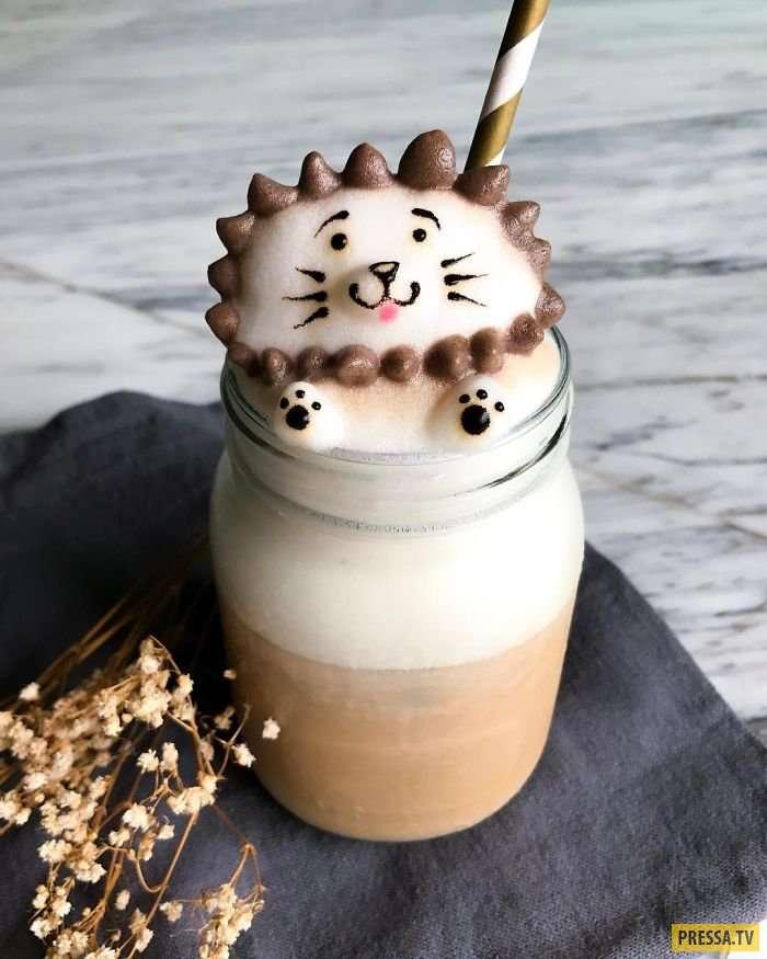 17-летняя девушка из Сингапура создает уникальные 3D кофейные арты, которые сложно пить! (20 фото)