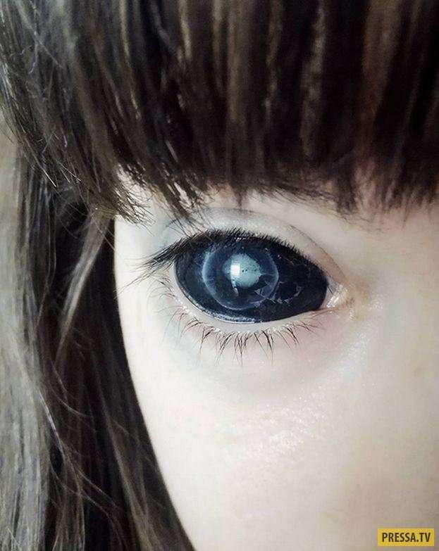 Хотела стать черноглазым демоном, но полностью потеряла зрение! (15 фото)