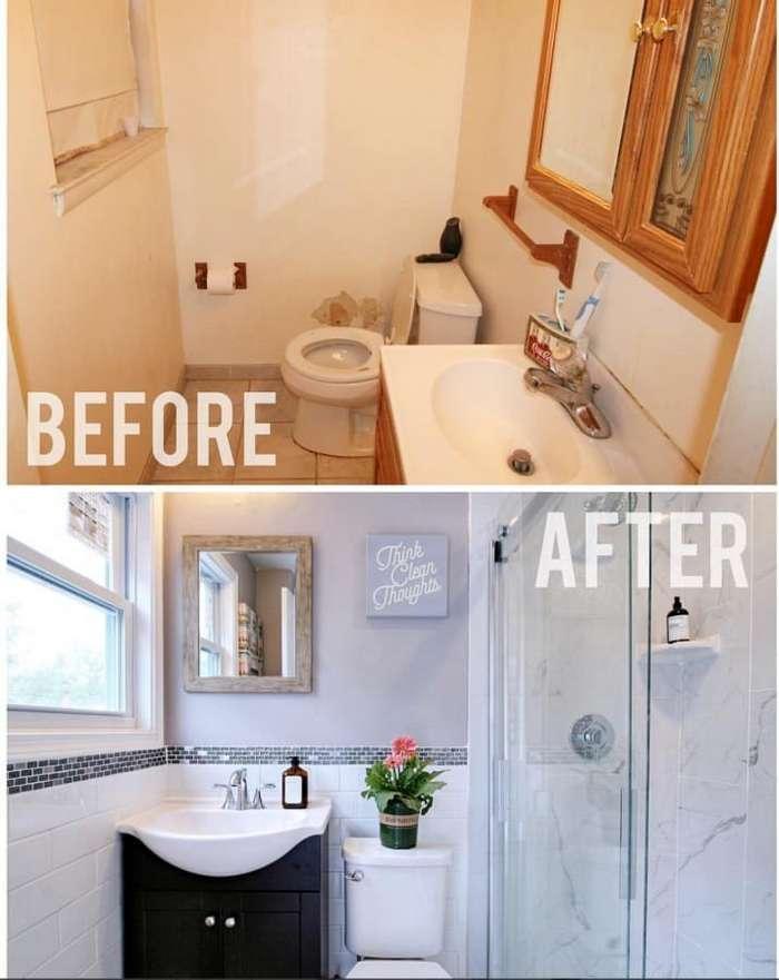 Было и стало: 16 интересных идей ремонта ванной комнаты