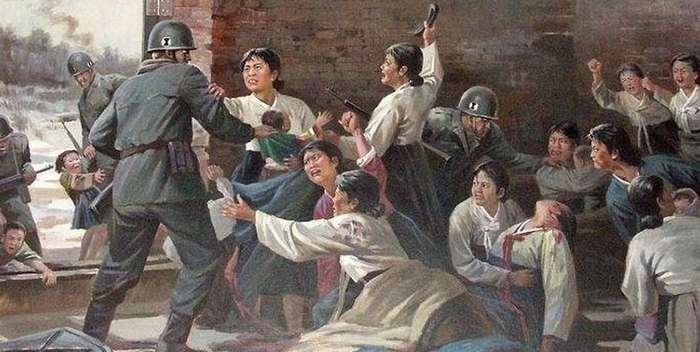 Взгляните на северокорейские пропагандистские плакаты - и вы тоже возненавидите американцев!-16 фото-