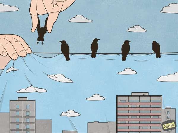 Позитивный сарказм в работах иллюстратора Антона Гудима-23 фото-