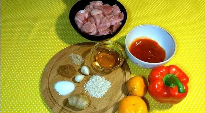 Свинина по-азиатски с мандаринами-9 фото-